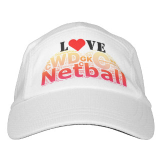Love Netball Positions Heart Themed Design Hat