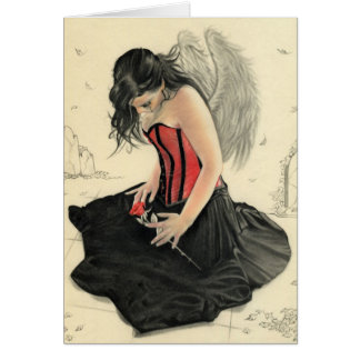 Love Never Dies Mourning Angel Card