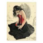 Love never dies mourning angelPostcard Postcard