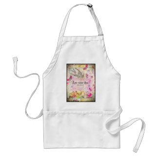 Love never dies QUOTE BY Emily Bronte Adult Apron