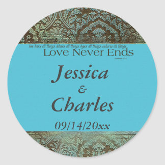 Love Never Ends Classic Round Sticker