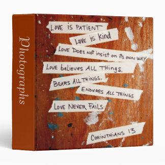 "Love Never Fails 1.5"" Photo Album 3 Ring Binder"