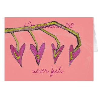 Love Never Fails 1 Cor. 13:8 Card