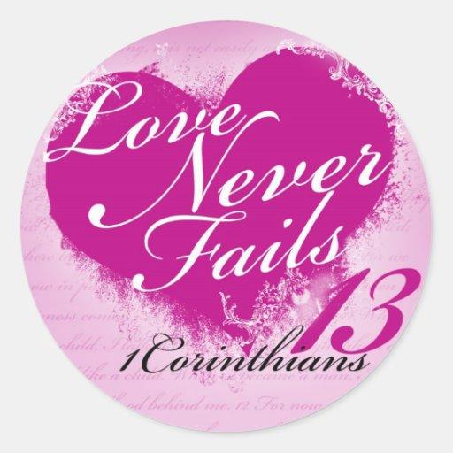 Love Never Fails - 1 Corinthians 13 Sticker