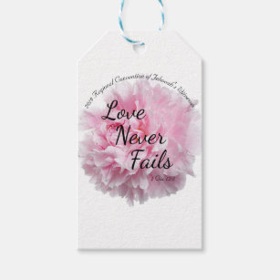 LOVE NEVER FAILS 2019 JW REGIONAL CONVENTION GIFT TAGS