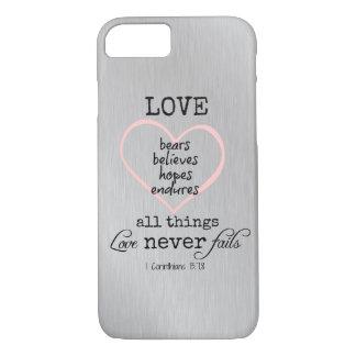 Love Never Fails Bible Verse iPhone 7 Case