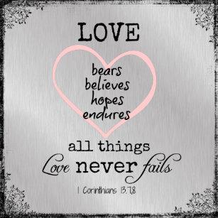 Love Never Fails Verse Wedding Invitation