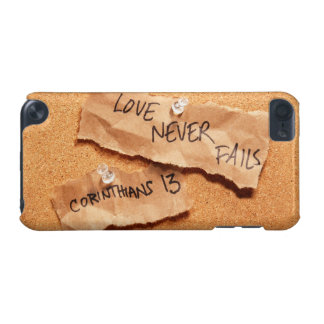 Love Never Fails Corkboard iPod Touch (5th Generation) Cover