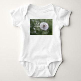 Love Never Fails Daisy 1 Corinthians 13 Baby Bodysuit