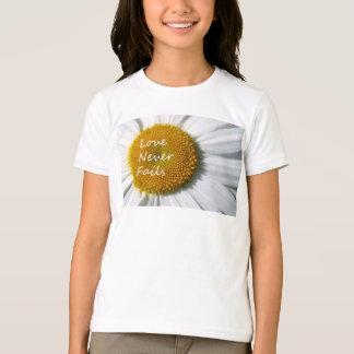 Love Never Fails Daisy 1 Corinthians 13 T-Shirt