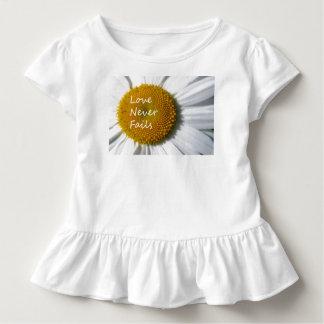 Love Never Fails Daisy 1 Corinthians 13 Toddler T-shirt