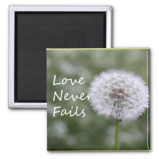 Love Never Fails Dandelion1 Corinthians 13 Magnet