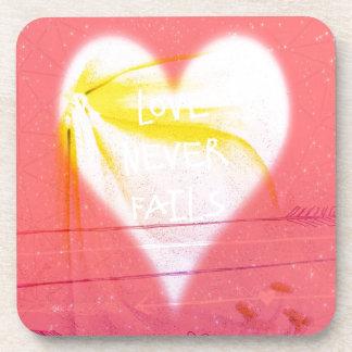 Love Never fails Drink Coaster