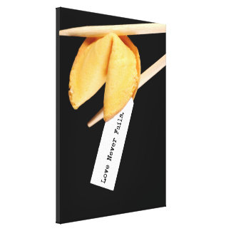 Love Never Fails Fortune Cookie Gallery Wrap Canvas