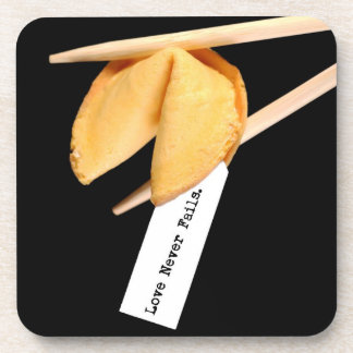 Love Never Fails Fortune Cookie Coaster