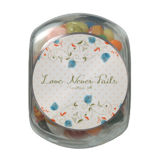 Love Never Fails Glass Jar
