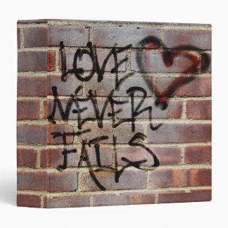 "Love Never Fails Graffiti 1.5"" Photo Album Binder"