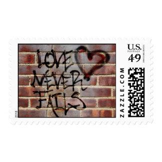 Love Never Fails Graffiti Postage