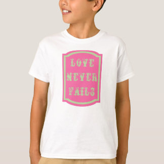 Love Never Fails Kids' Hanes Tagless T-Shirt