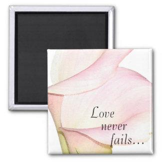 Love Never Fails Lilies Magnet