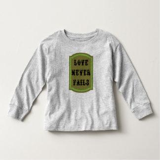 Love Never Fails Long Sleeve Toddler T-Shirt