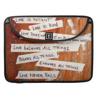Love Never Fails MacBook Pro Sleeve