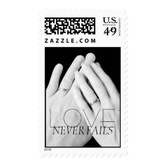 Love Never Fails Married Hands Postage