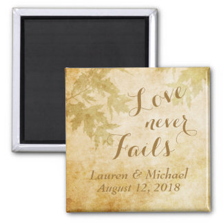 Love Never Fails Nature 2 Inch Square Magnet