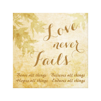 Love Never Fails Nature Gallery Wrap Canvas