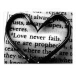 Love Never Fails Postcards