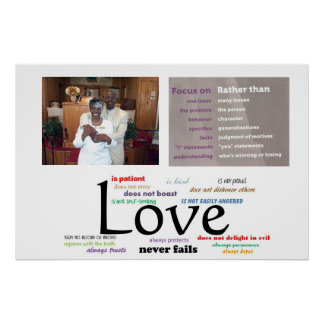Love Never Fails Poster (32 X 24)