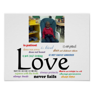 Love Never Fails Poster (Non Couple) 14 x 11