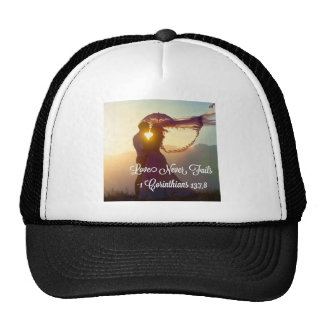 Love Never Fails Trucker Hat