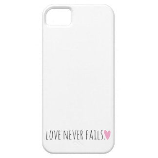Love Never Fails with Heart iPhone SE/5/5s Case