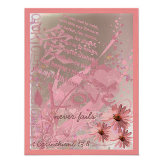 Love Never Fails With Wedding Vows Poster