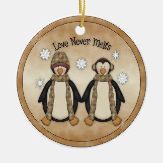 Love Never Melts Christmas Ornament