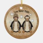 Love Never Melts :: Penguin Holiday Ornament
