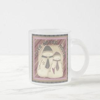 Love Never Melts Snowman Mug