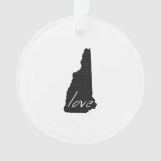 Love New Hampshire Ornament