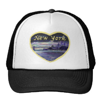 Love New York city novelty art hat