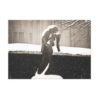 Love - New York Winter Canvas Print
