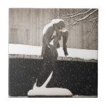Love - New York Winter Ceramic Tile