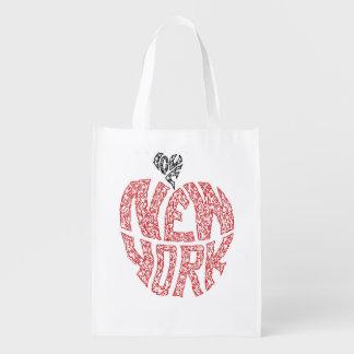 LOVE NEW YORK REUSABLE GROCERY BAGS