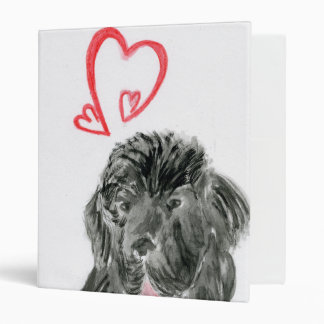 Love Newfoundland dog watercolor Binder
