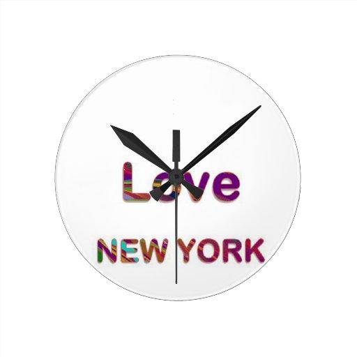 LOVE NewYork NEW York Round Wallclock