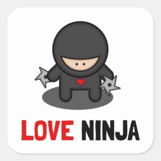 Love Ninja Square Sticker