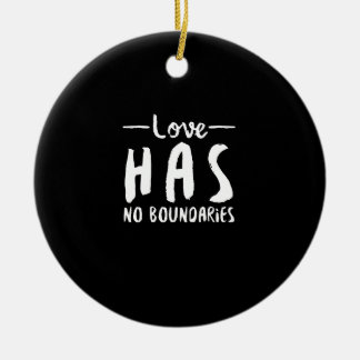 Love No Boundaries Double-Sided Ceramic Round Christmas Ornament