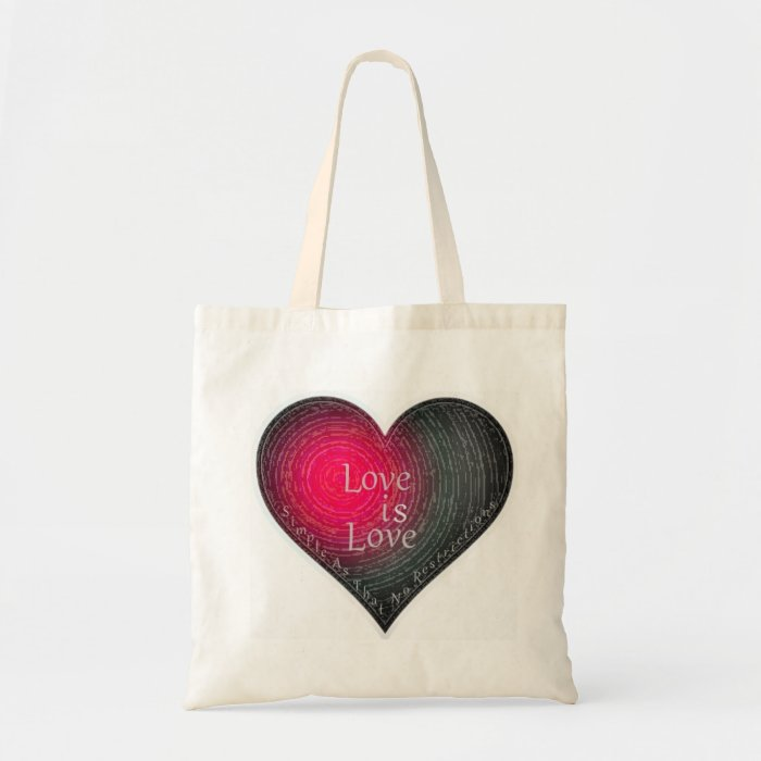 """Love...No Restrictions"" tote"