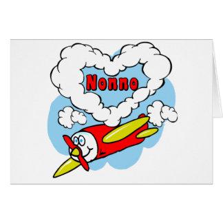 Love Nonno Kids Airplane Card