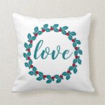 Love Nordic Scandia Wreath Throw Pillow